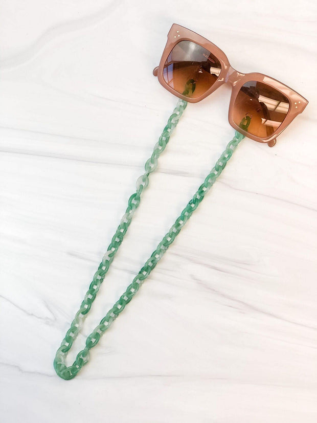 Green Tortoise Glasses Lanyard