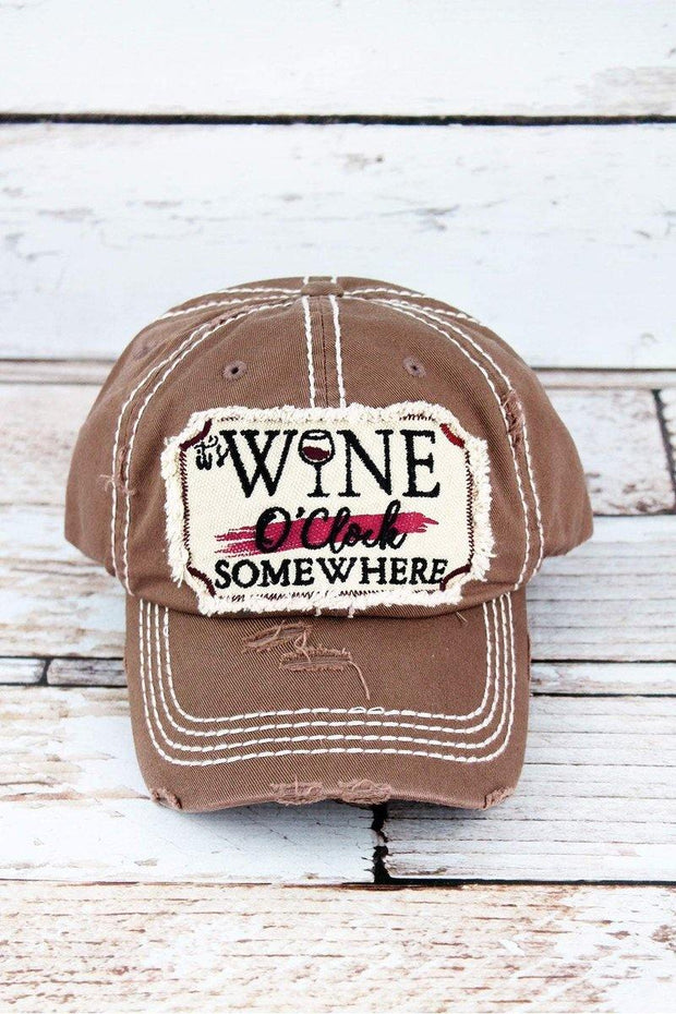 It's Wine O'Clock Somewhere Hat
