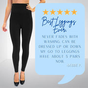 Incredible Black Leggings (Cropped and Full Length) | Fruit of the Vine Boutique