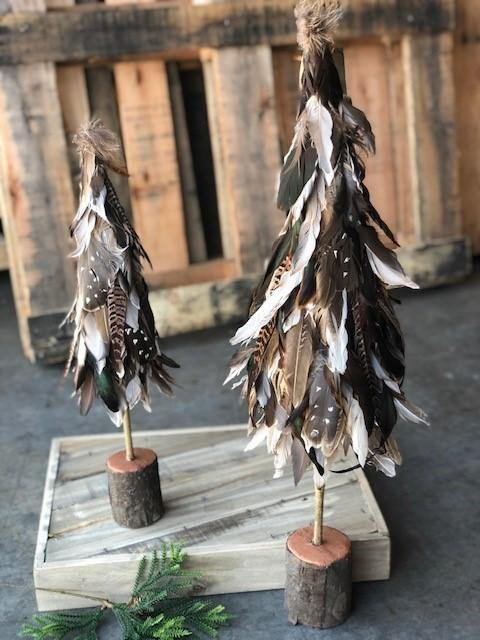 Feather Christmas Trees