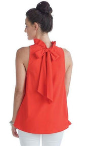 Eloise Ruffle Bow Top