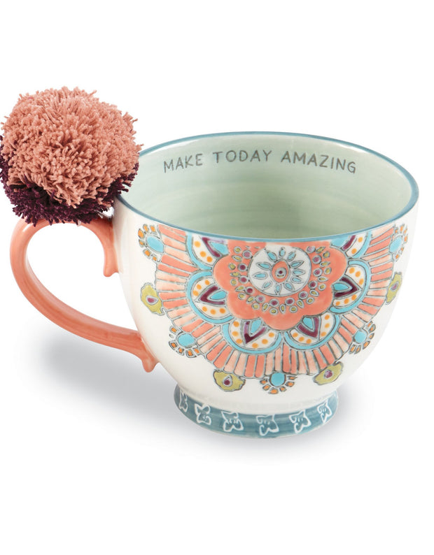 Bohemian Pom Pom Mugs - Fruit of the Vine