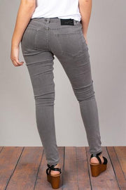 Mystree Stretchy Skinny Jeans in Slate - Fruit of the Vine