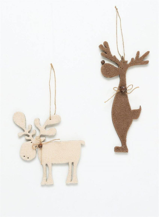 Furry Moose Ornament
