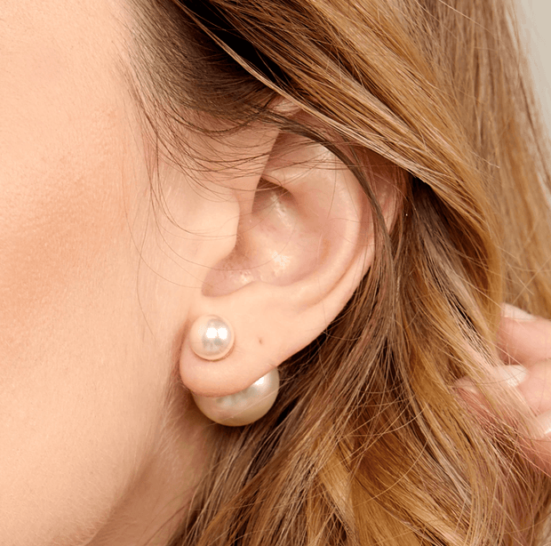 It Takes Two Double Pearl Earrings
