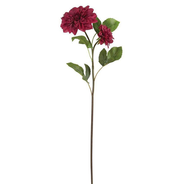 Artificial Red Dahlia Stem