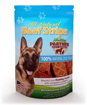 All Natural Beef Strip Dog Treats - Fruit of the Vine