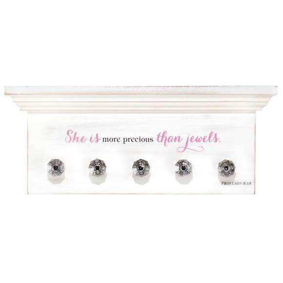 "Accessory Plaque - ""She is More Precious Than Jewels"""