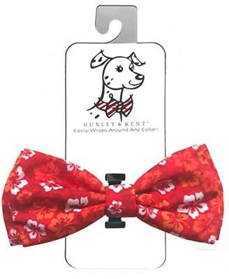 Red Hibiscus Dog Bow Tie