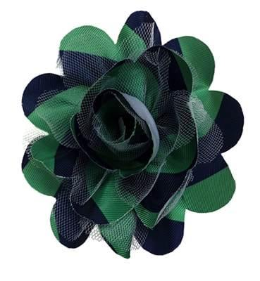 Harvey Green and Blue Dog Collar Flower