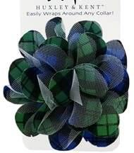 Blackwatch Plaid Dog Collar Flower