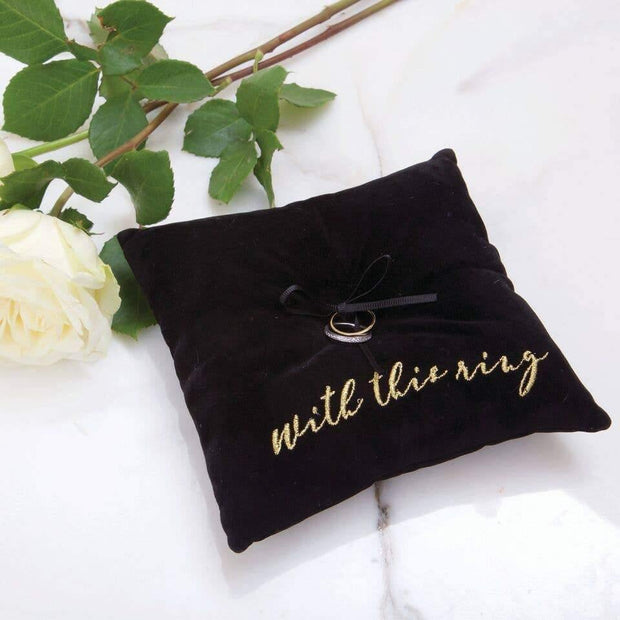 Black Ring Bearer Pillow