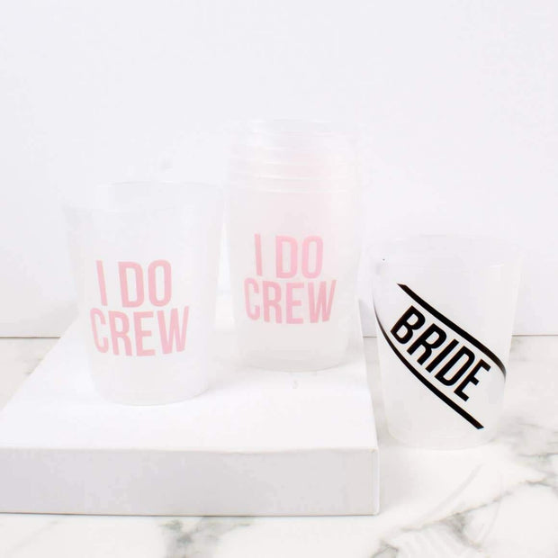 Bride and Crew Reusable Cup Set