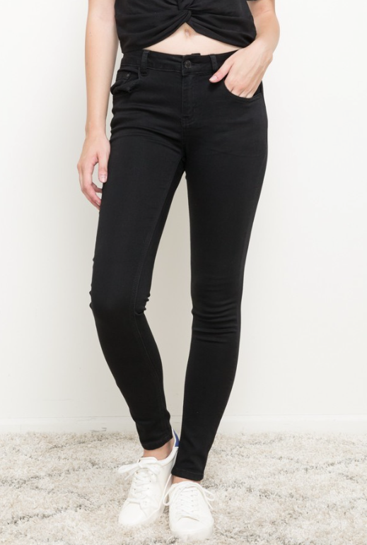 Mystree Black Stretchy Skinny Jeans | Fruit of the Vine Boutique