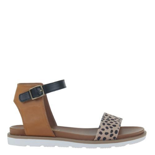 Anna Leopard Two-Tone Sandal - Fruit of the Vine