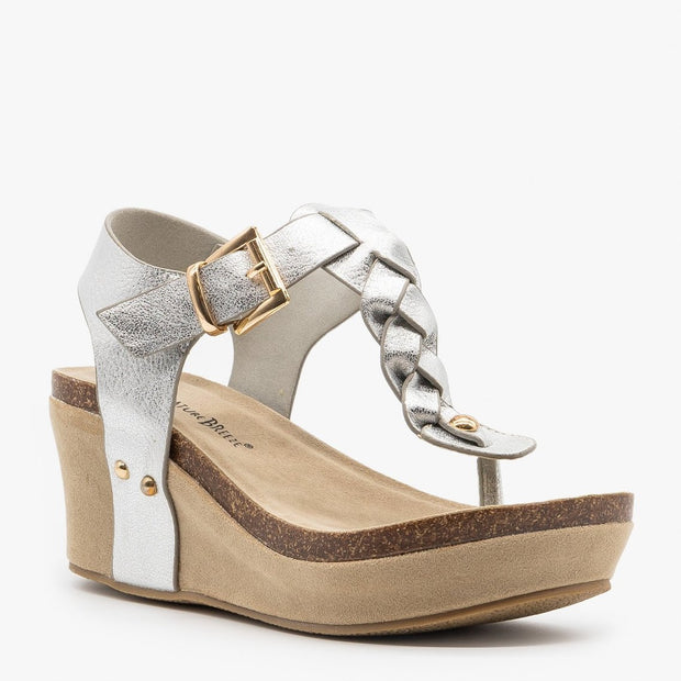 Nature Breeze Truce Braided Wedges in Silver