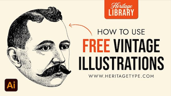 HOW TO EDIT FREE HERITAGE TYPE ILLUSTRATIONS