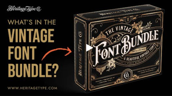 WHAT'S IN THE VINTAGE FONT BUNDLE?