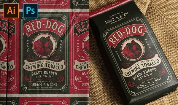 HOW TO DESIGN A CHEWING TOBACCO PACKAGING DESIGN INSPIRED BY THE 20-50S