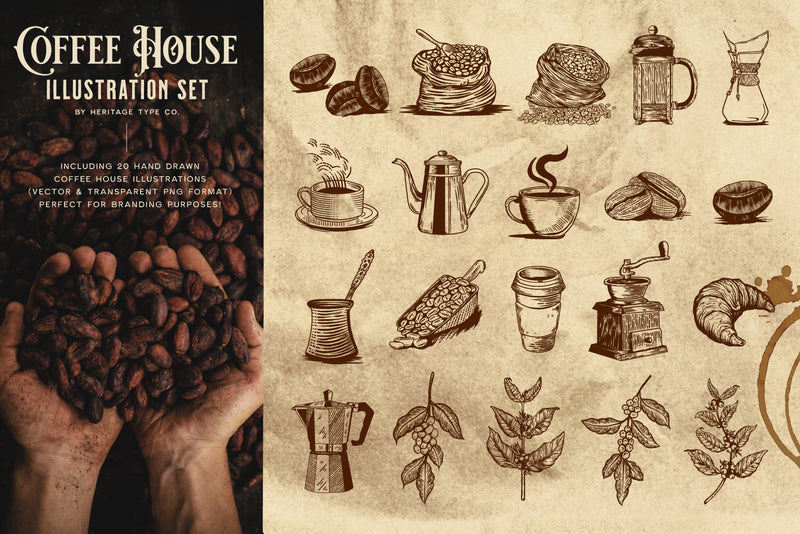 Coffee House - Illustration Set - HTC GmbH