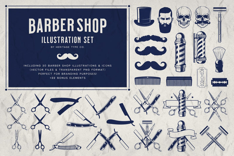 Barber Shop - Illustration Set - HTC GmbH