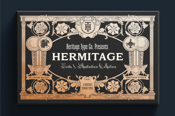 Hermitage Fonts and Illustration Collection