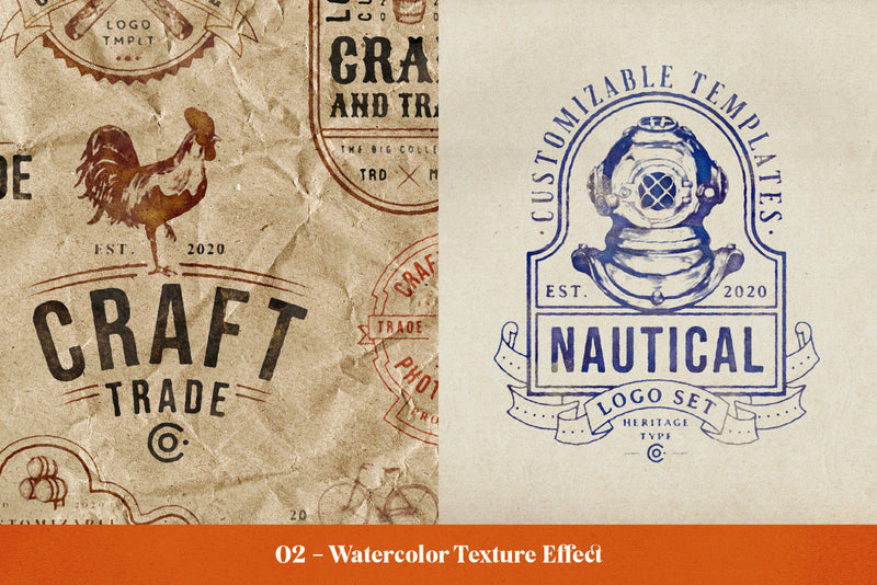 The Ultimate Vintage Logo Bundle - 200 Editable Logo Templates - HTC GmbH