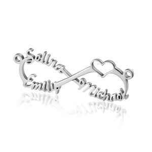 Personalized 3 Name Infinity Necklace