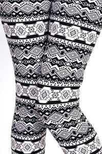 Black & White Tribal Print