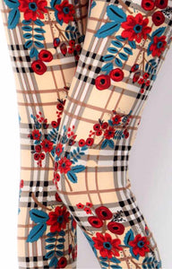 Flowers on plaid