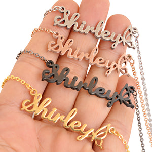 Personalized Hollow Butterfly Name Necklace