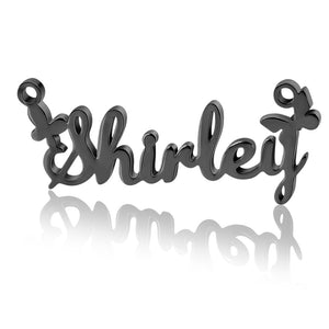 Personalized Solid Butterfly Name Necklace
