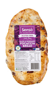 Senza - Gluten Free Olive & Rosemary Focaccia 250g