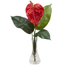Anthurium w/Bud Vase Silk Flower Arrangement (Set of 2)