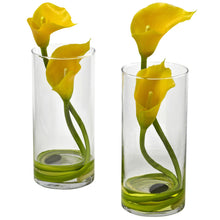 Double Calla Lily w/Cylinder (Set of 2)