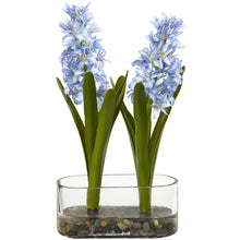 "14"" Double Hyacinth in Vase Artificial Arrangement"