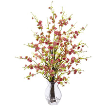 Cherry Blossom in Glass Vase
