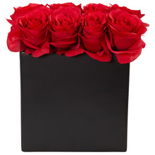 Roses Arrangement in Black Vase