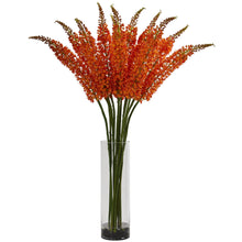 Fox Tail Artificial Arrangement in Glass Cylinder