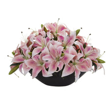 Lily Centerpiece Artificial Floral Arrangement