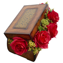 Roses Artificial Arrangement in Decorative Chest