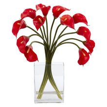 Calla Lily Artificial Arrangement in Vase