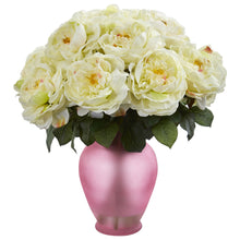 Rose Artificial Arrangement in Rose Colored Vase