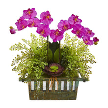 Orchid, Succulent and Maiden Hair Artificial Arrangement