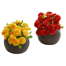 Japanese Artificial Arrangement in Brown Planter (Set of 2)