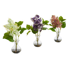 Lilac Artificial Arrangement in Vase (Set of 3)