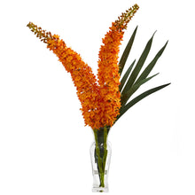 Fox Tail Artificial Arrangement in Glass Vase