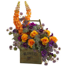 Roses, Fox Tail and Morning Glory Artificial Arrangement