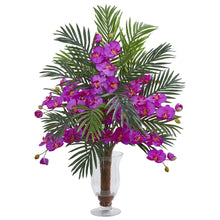 Phalaenopsis Orchid and Areca Palm Artificial Arrangement