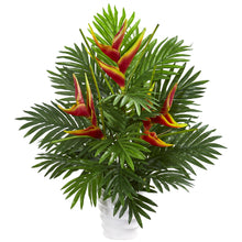 "25"" Heliconia & Areca Palm Artificial Arrangement"